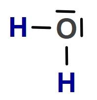 H2O Molekülünün Lewis Nokta Yapısı