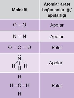 Polar - Apolar Kovalent Bağlar