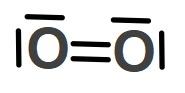 O2 Molekülünün Lewis Elektron Nokta Yapısı