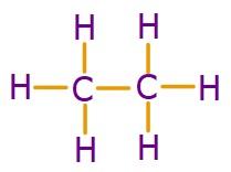 C2H6 Molekülünün Lewis Yapısı